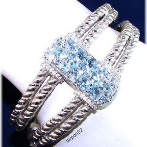 Judith Ripka 8.20ct Blue Topaz Sterling Bracelet